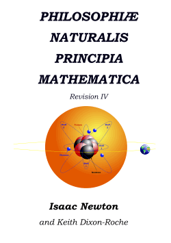 Cover of publication PHILOSOPHIÆ NATURALIS PRINCIPIA MATHEMATICA Revision IV