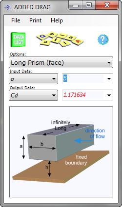 Added Drag calculates the shape coefficients that define their resistance to a flowing fluid