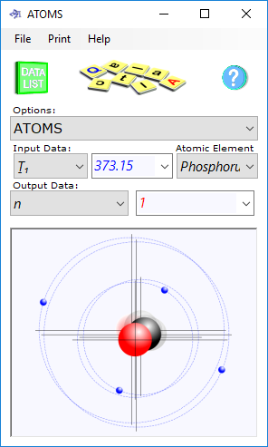 Our atomic calculator determines the performance and properties of an atom according Newton laws of orbital motion and Coulomb's force law