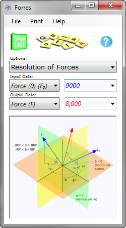 CalQlata's resolution of forces calculator converts individual forces into a single equivalent force