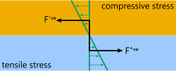 The forces on a of a bimetallic strip under elevated temperature