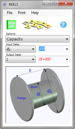 The reel capacity calculator provides maximum length of cable, cord or pipe your specified reel will accommodate, or how big your reel or bobbin needs to be to accommodate your specified length of cable