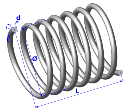 A a helical spring in the spring strength calculator